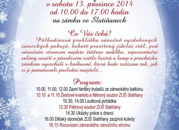 Vánoční jarmark ve slatiňanském zámku