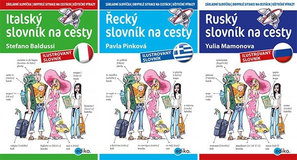 SOUTĚŽ o tři SLOVNÍKY NA CESTY - Italský, Řecký a Ruský