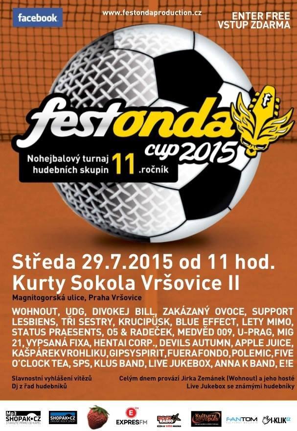 Festonda CUP 2015 se uskuteční již tuto středu v Praze