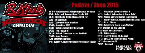 R-klub Chrduim - akce podzim/zima 2015