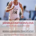 Beseda s legendou české atletiky Jarmilou Kratochvílovou
