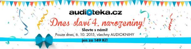 Oslavte 4. narozeniny Audiotéky a pořiďte si audioknihy za 149 Kč