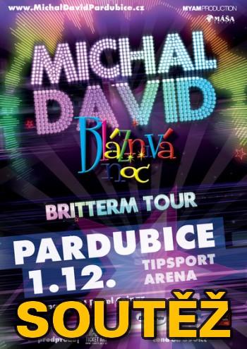 SOUTĚŽ o vstupenky na MICHALA DAVIDA do Pardubic