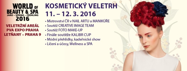 veletrh WORLD OF BEAUTY & SPA ve dnech 11. a 12. března 2016
