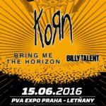 Na Aerodrome festivalu zahrají vedle Korn také Bring Me The Horizon a Billy Talent