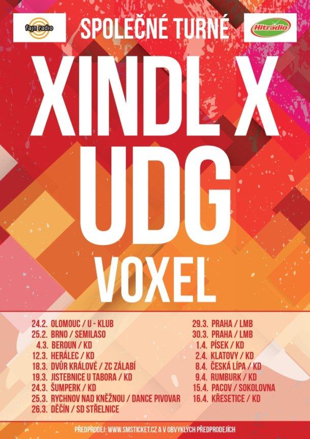 SPOLEČNÉ TURNÉ - XINDLa X, UDG a VOXELa
