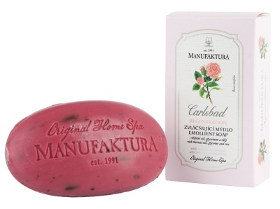 Rostlinné mýdlo s vřídelní solí, glycerinem a růží