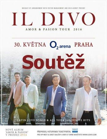 SOUTĚŽ o dvě vstupenky na IL DIVO v Praze