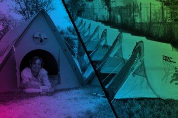 Rock for People: kartonový stan - originálně, kreativně, ekologicky