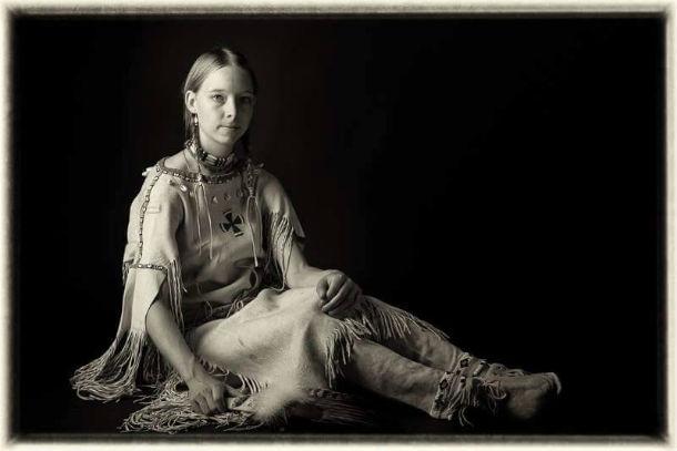 Dobová fotka v indiánském