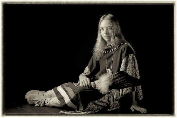 Foto v indiánských látkových šatech
