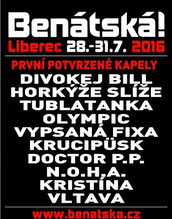 SOUTĚŽ o vstupenky na hudební festival BENÁTSKÁ! 2016