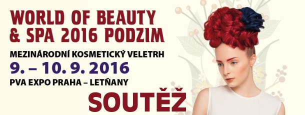 SOUTĚŽ o kosmetické balíčky a vstupenky na podzimní veletrh WORLD OF BEAUTY & SPA