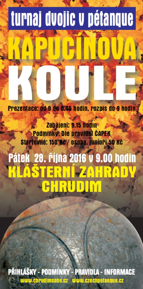 KAPUCÍNOVA KOULE - turnaj dvojic v Pétanque