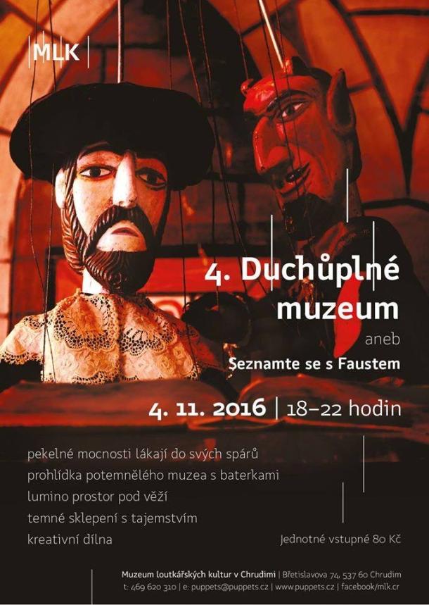 V Muzeu loutkářských kultur v Chrudimi ožije duch doktora Fausta