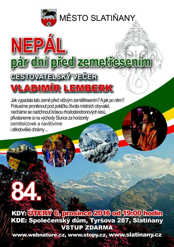 Vladimír Lemberk - Nepál pár dní před zemětřesením