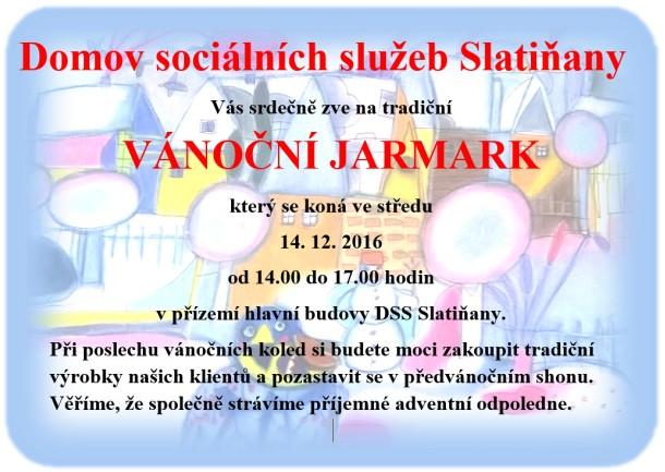 Vánoční jarmark v Domově sociálních služeb Slatiňany