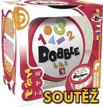 SOUTĚŽ o postřehovou hru pro děti - DOBBLE 1-2-3