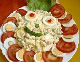 Veselý vajíčkový salát
