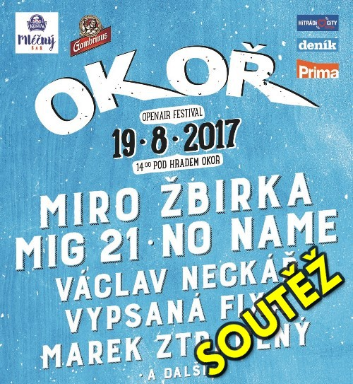 Soutěž o vstupenky na Festival OKOŘ