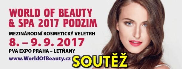 SOUTĚŽ o kosmetické balíčky a vstupenky na jarní veletrh WORLD OF BEAUTY & SPA - podzim 2017