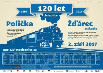 120 let železnice Polička - Žďárec u Skutče