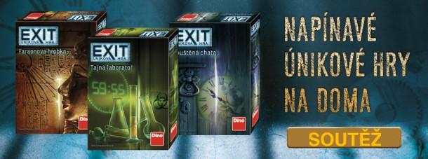 tři únikové hry EXIT
