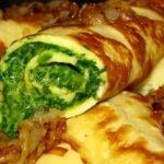 Omeleta plněná špenátem