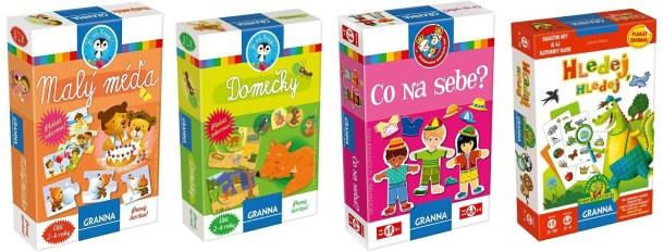 SOUTĚŽ o čtyři deskové dětské hry značky GRANNA