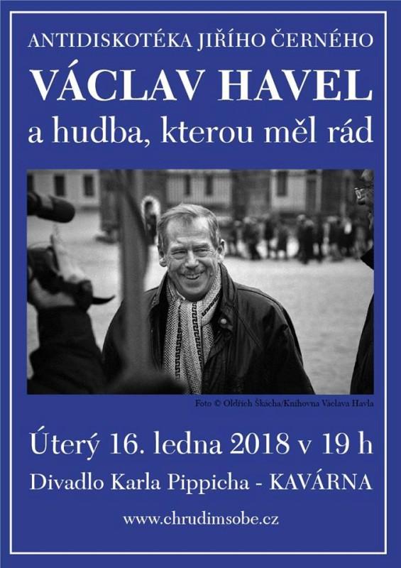 Antidiskotéka Jiřího Černého - Václav Havel plakát