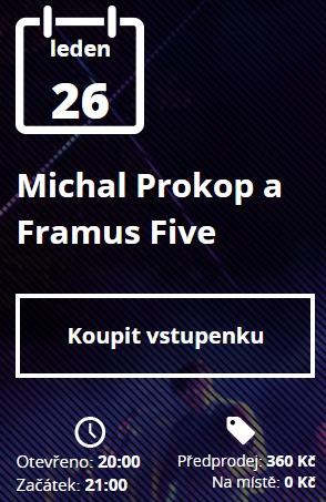 Michal Prokop - R klub - vstupenky