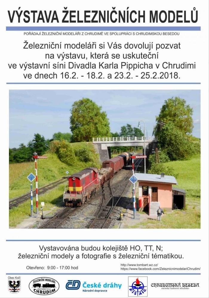 Výstava železničních modelů plakát