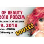 2. SOUTĚŽ o kosmetické balíčky a vstupenky na veletrh WORLD OF BEAUTY & SPA – podzim 2018
