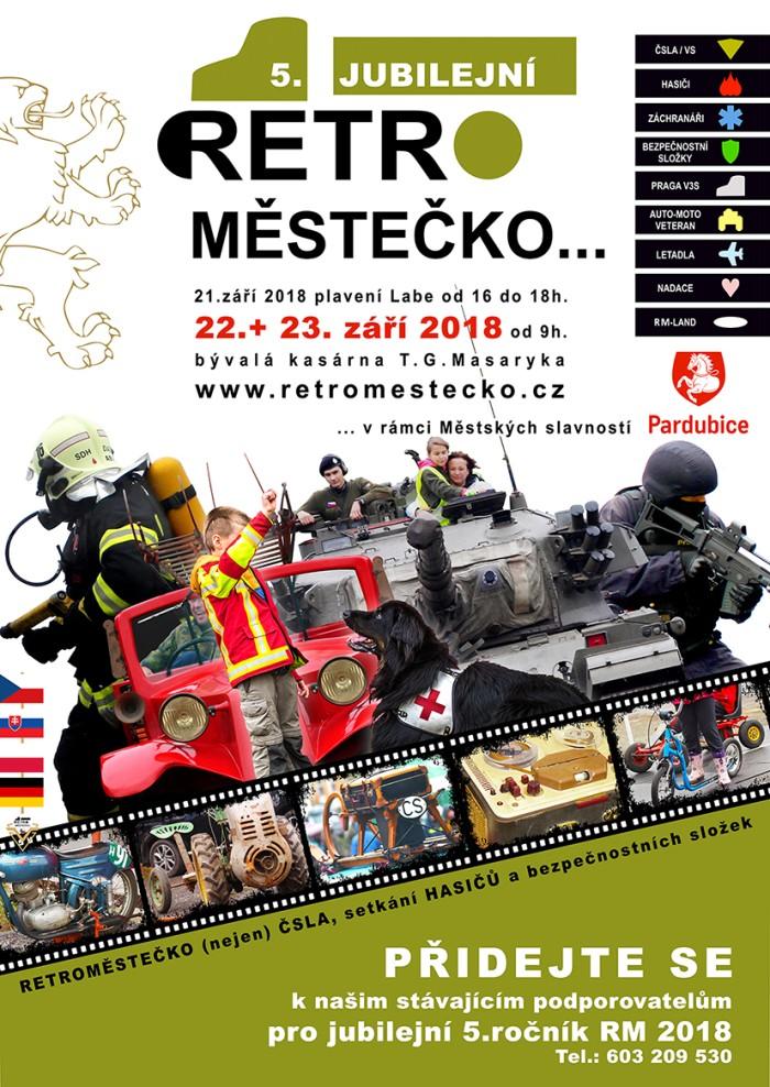 Retroměstečko 2018 plakát