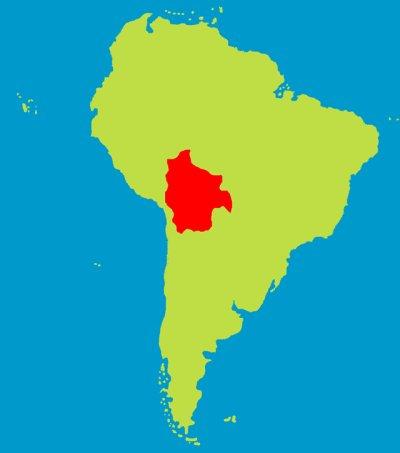 Bolivie - mapa