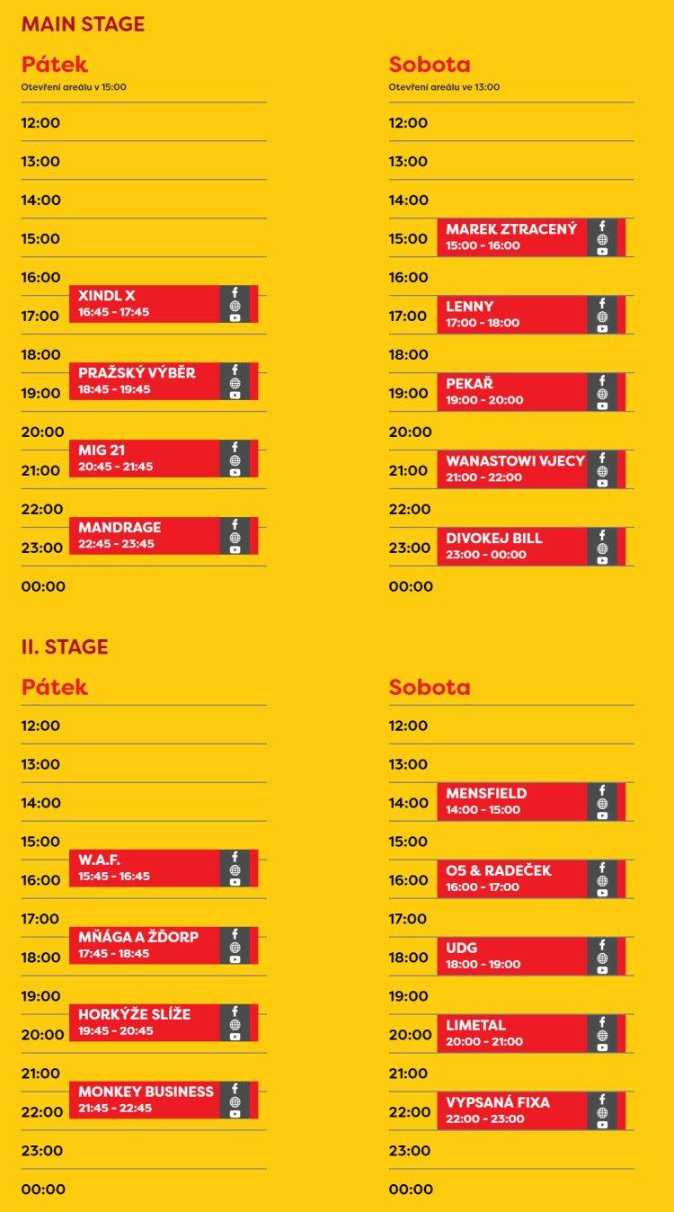 LétoFest Pardubice - program