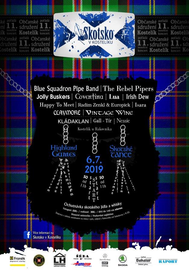 Skotsko v kostelíku 2019