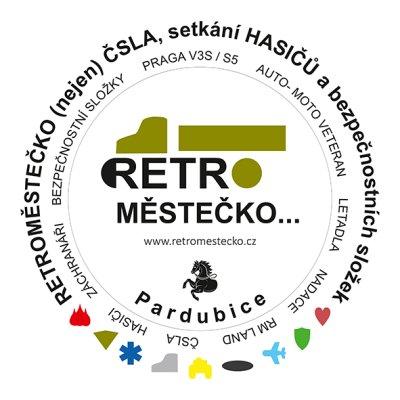 Retroměstečko - kruhové logo