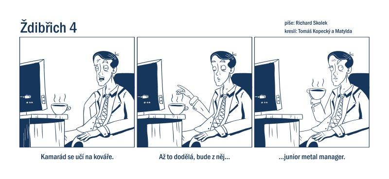 Ždibřich ukázka komiksového stripu