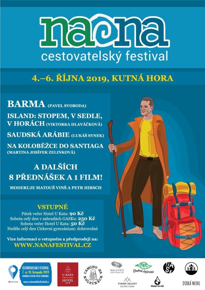 NaNa Cestovastelský festival - plakát akce