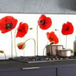 Skleněný panel do kuchyně – moderní bytové dekorace