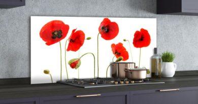 Skleněný panel do kuchyně