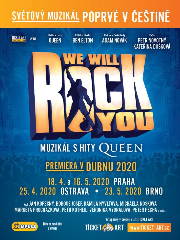 Muzikál We will rock you - plakát