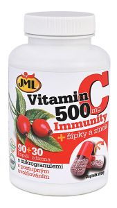 Vitamín C-500 mg Immunity + šípky a zinek