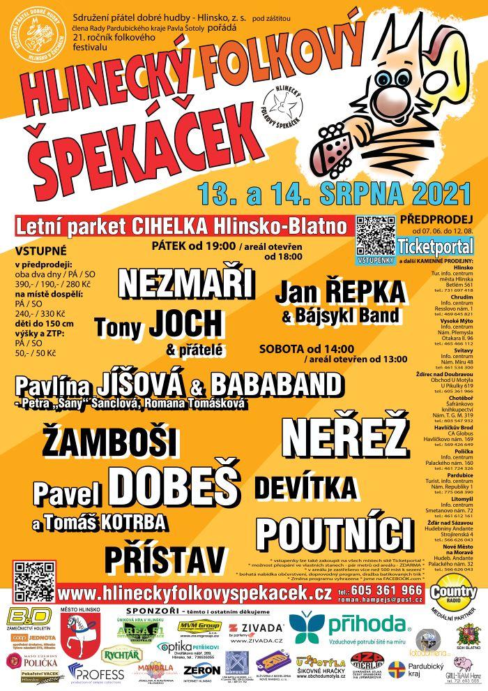 Hlinecký folkový špekáček - plakát